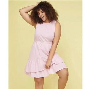 Lane Bryant  26/28 fun pink dress